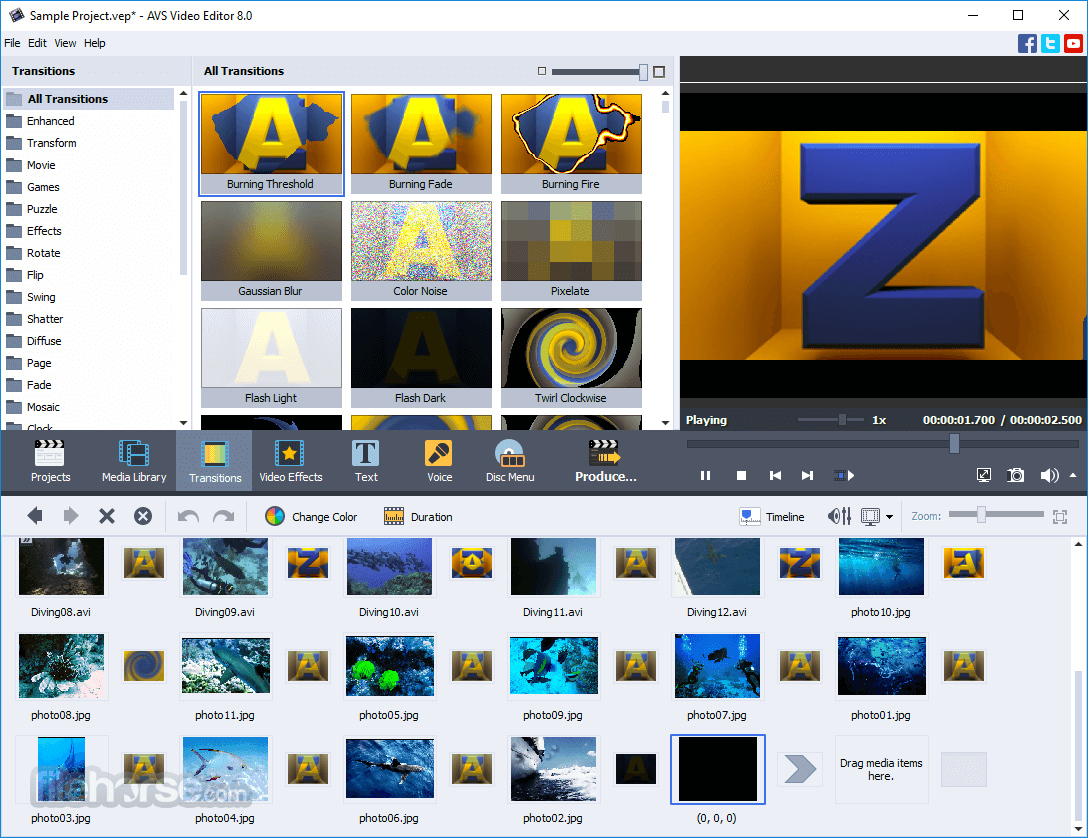 Avs video editor 812 download for windows filehorse avs video editor 812 screenshot 2 ccuart Image collections
