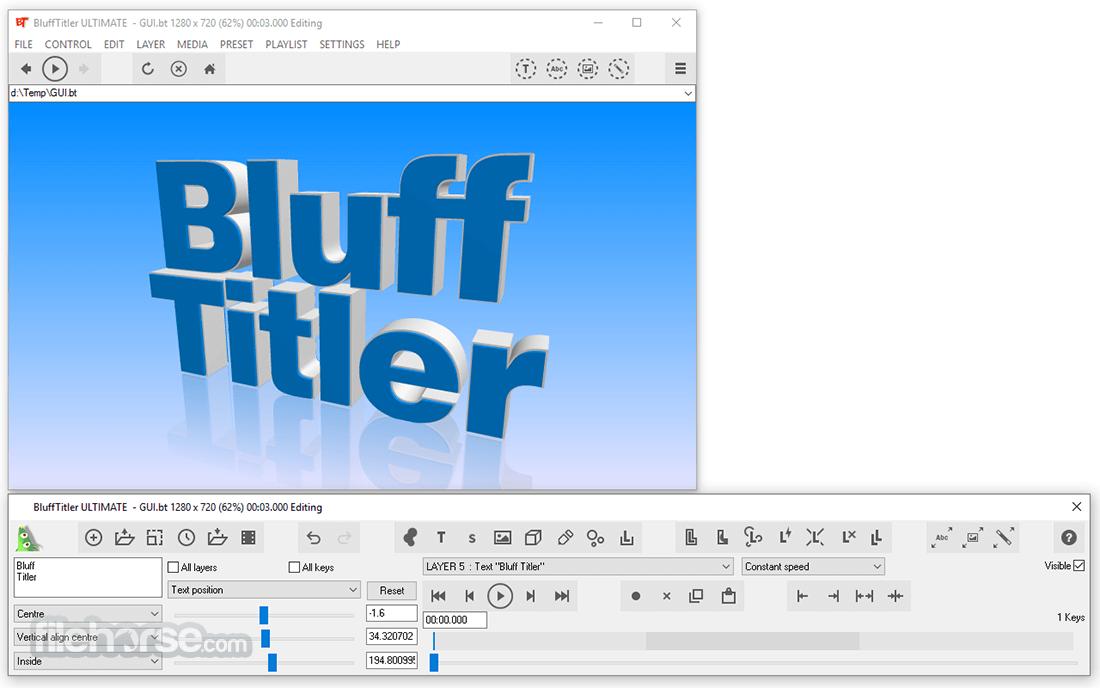 BluffTitler 15.3.0.2 Captura de Pantalla 1