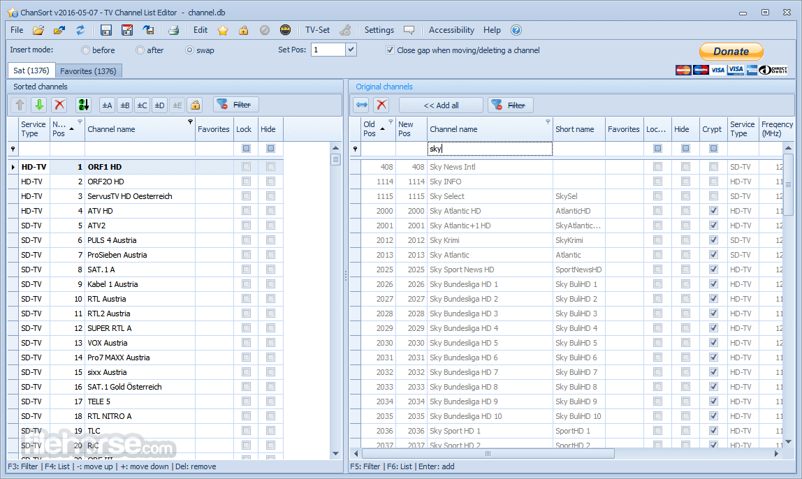 ChanSort 2021.01.24 Screenshot 1