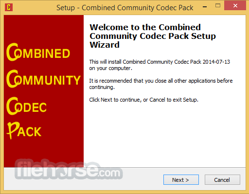 Combined Community Codec Pack 2015-10-18 (64-bit) Captura de Pantalla 1
