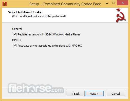 Combined Community Codec Pack 2015-10-18 (64-bit) Screenshot 3