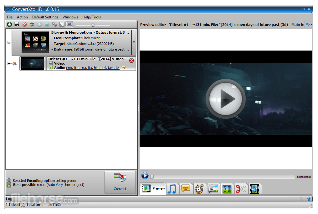 ConvertXtoHD 3.0.0.71 Screenshot 1