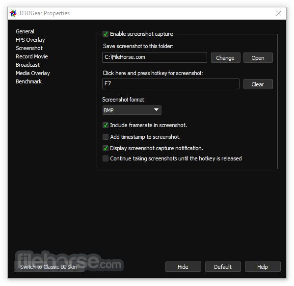 D3DGear 5.00 Build 2187 Screenshot 3