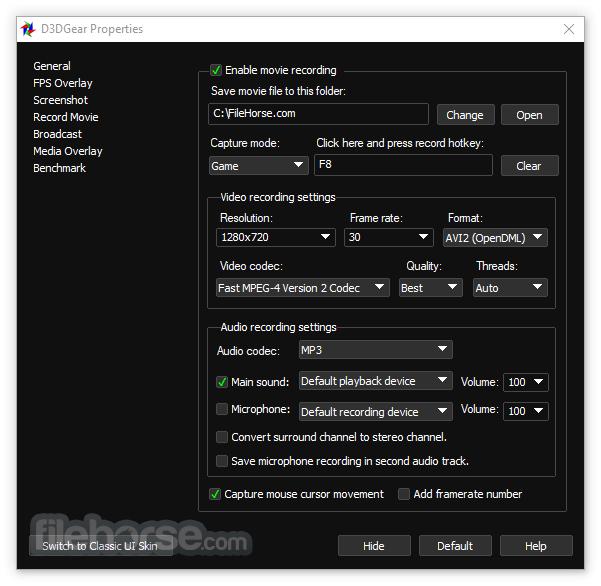 D3DGear 5.00 Build 2187 Screenshot 4