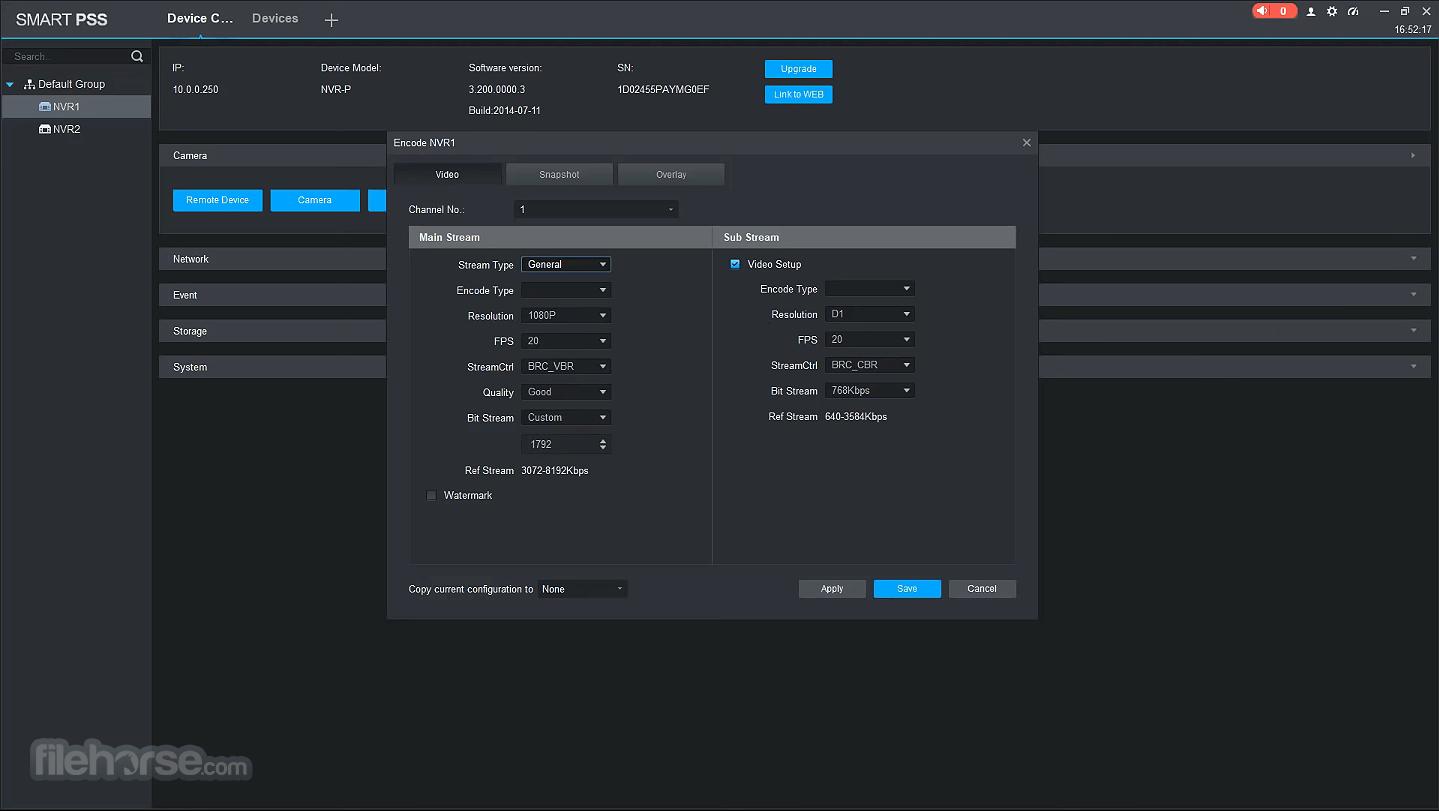 Dahua SmartPSS 2.03.0 (200413) Screenshot 5