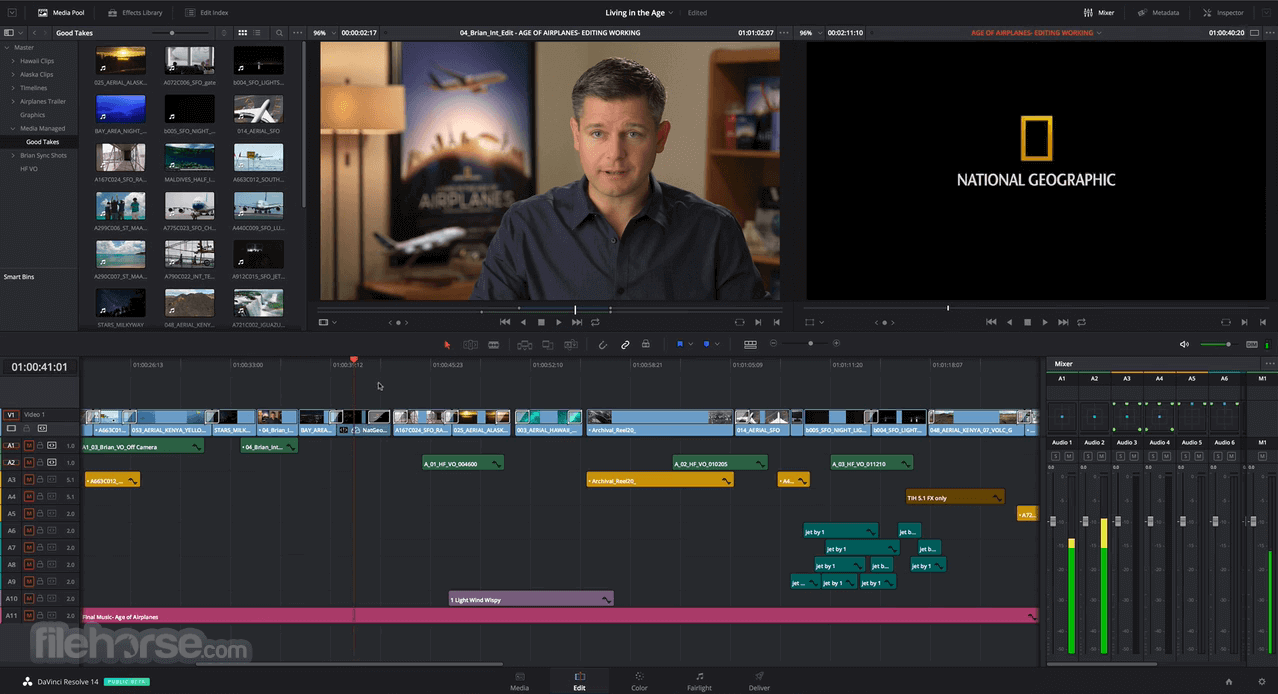 DaVinci Resolve 14.2.0 Captura de Pantalla 1