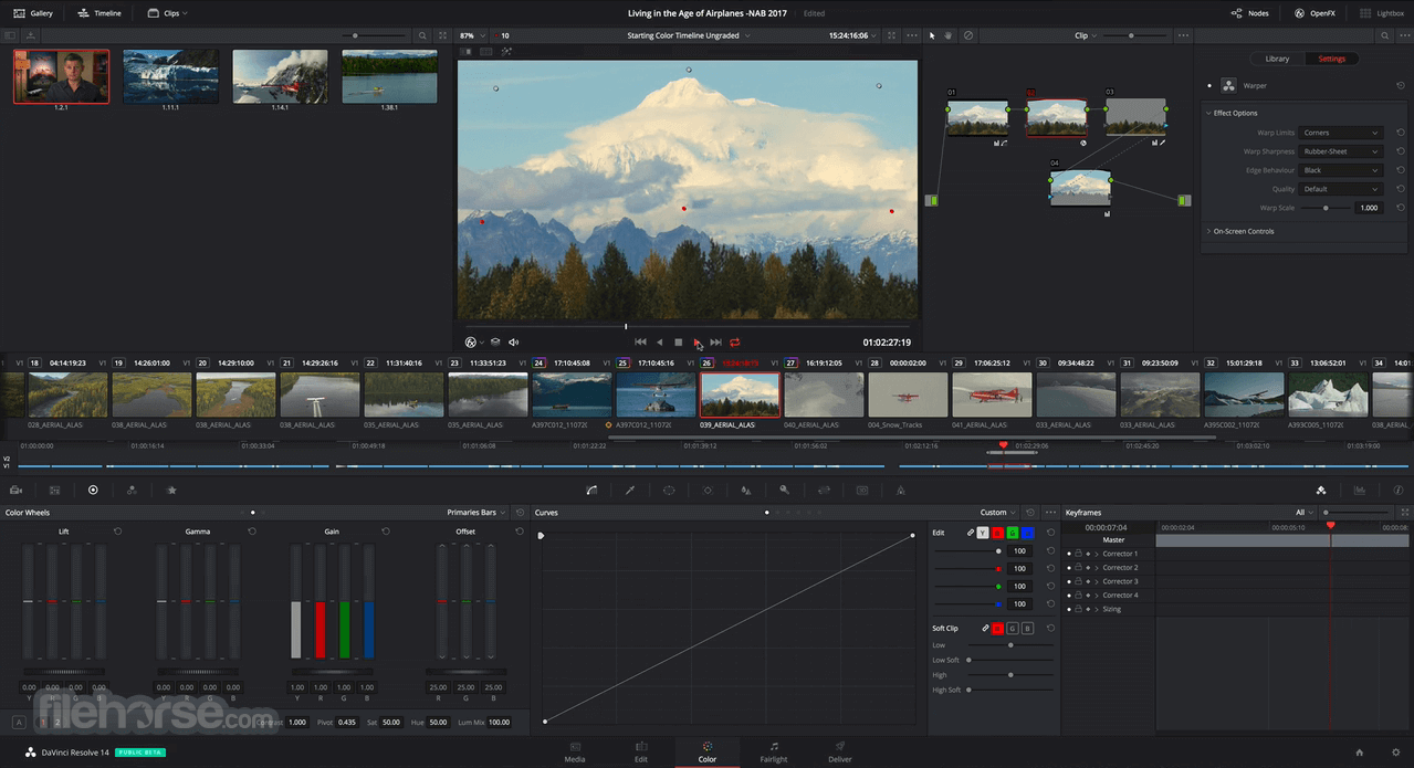 DaVinci Resolve 14.2.0 Captura de Pantalla 4