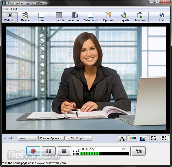 Debut Video Capture 4.09 Captura de Pantalla 1