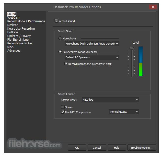 FlashBack Pro 5.27.0 Build 4280 Screenshot 3