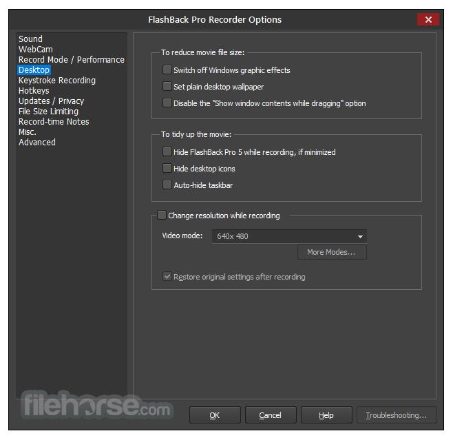 FlashBack Pro 5.27.0 Build 4280 Screenshot 5