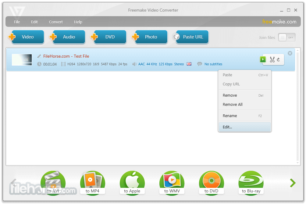 Freemake Video Converter 4.1.10.38 Captura de Pantalla 2