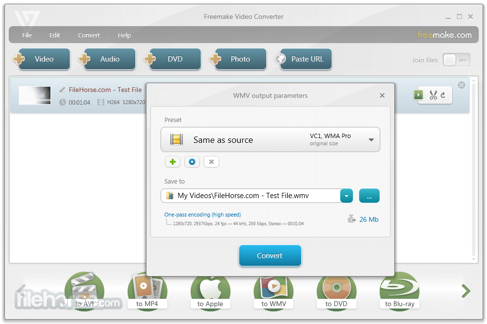 Freemake Video Converter 4.1.10.38 Captura de Pantalla 3