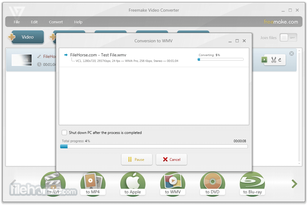 Freemake Video Converter 4.1.10.38 Captura de Pantalla 4