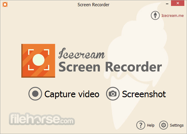 IceCream Screen Recorder 5.10 Screenshot 1