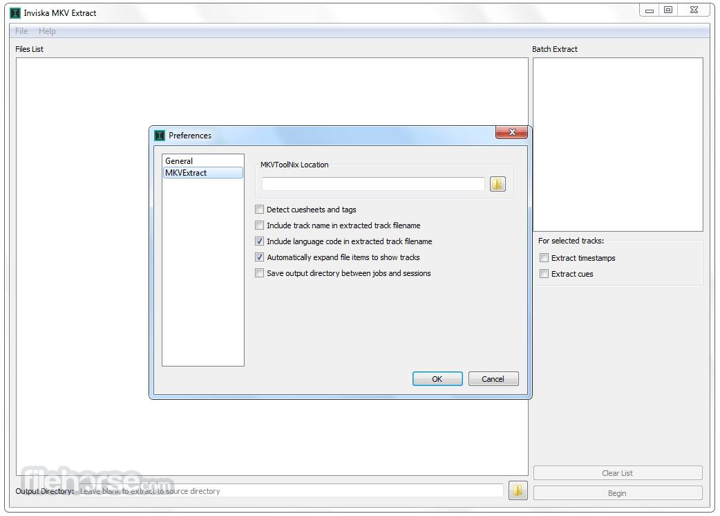 Inviska MKV Extract 11.0 (32-bit) Screenshot 2