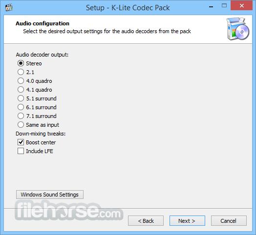 K lite codec pack program screenshots.