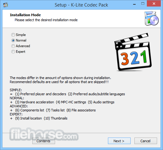K-Lite Codec Pack Mega 14.4.5 Screenshot 1
