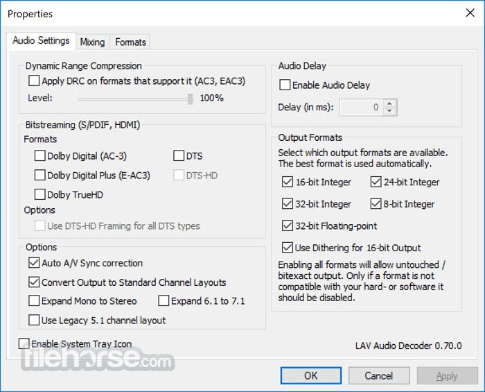 LAV Filters 0.70.2 Screenshot 1