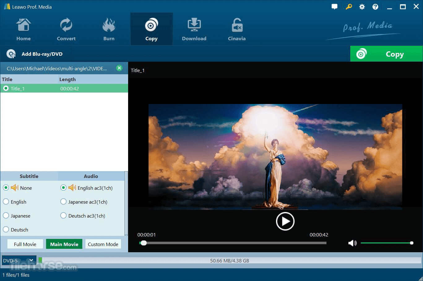 Leawo Prof. Media 8.3.0.3 Screenshot 3