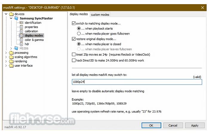 madVR 0.92.17 Screenshot 3