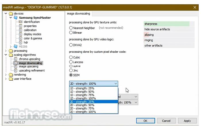 madVR 0.92.17 Screenshot 4