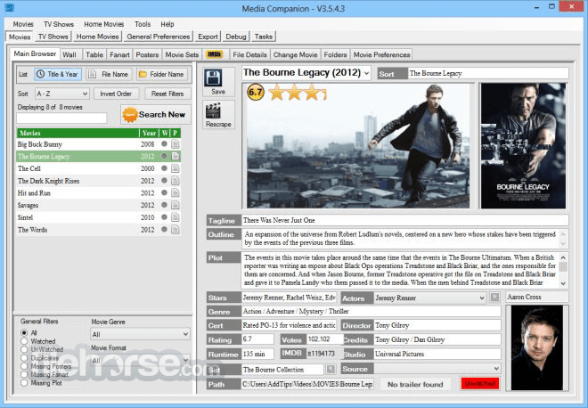 Media Companion 3.711 Beta (64-bit) Screenshot 1