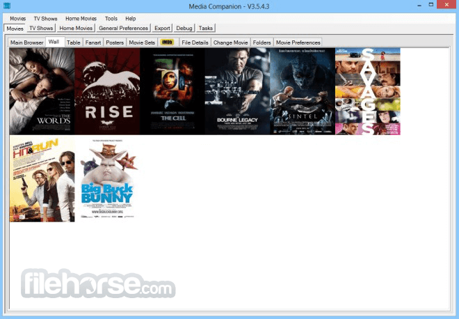 Media Companion 3.711 Beta (64-bit) Screenshot 2