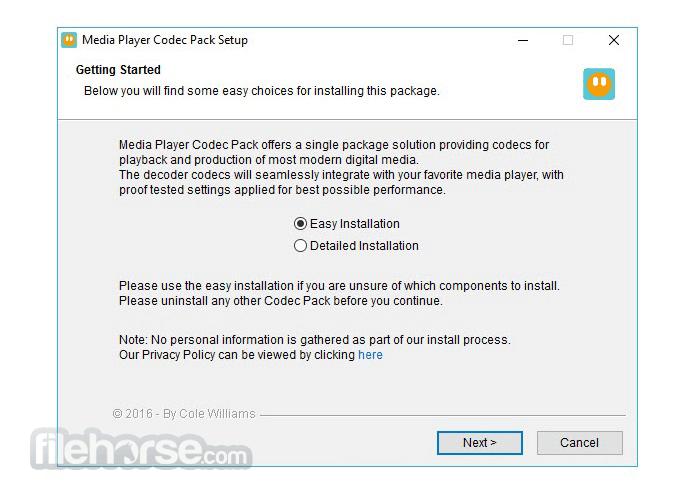 Media Player Codec Pack 4.5.6 Screenshot 3