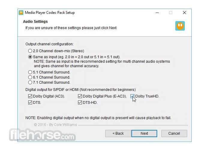 Media Player Codec Pack 4.5.6 Screenshot 4