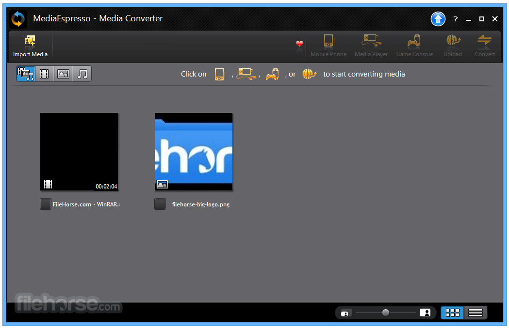 MediaEspresso 7.5.10422 Screenshot 1