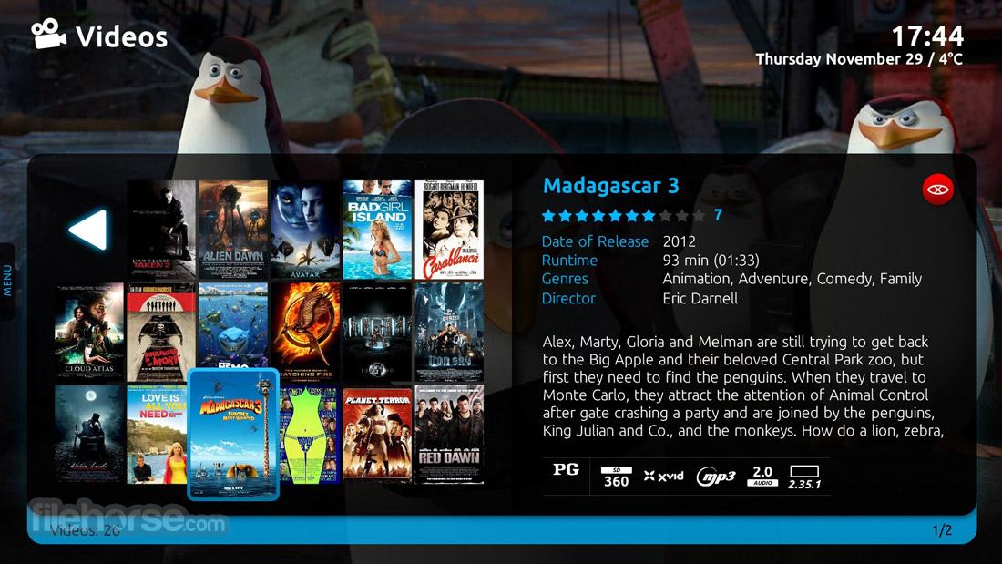 MediaPortal 1.19.0 Captura de Pantalla 5