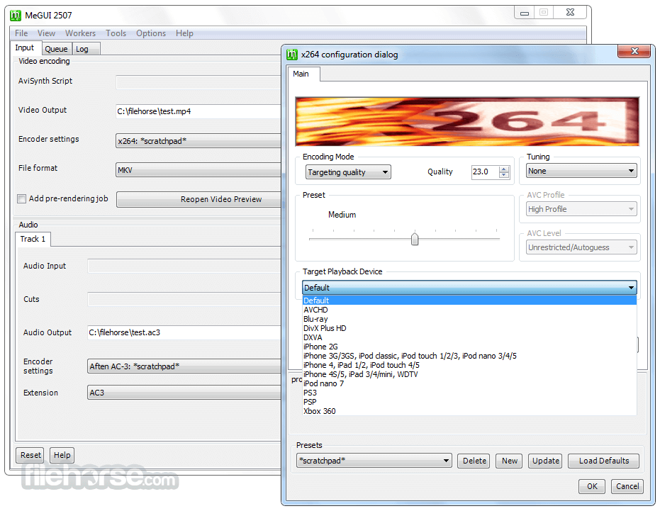 MeGUI 2836 Screenshot 2