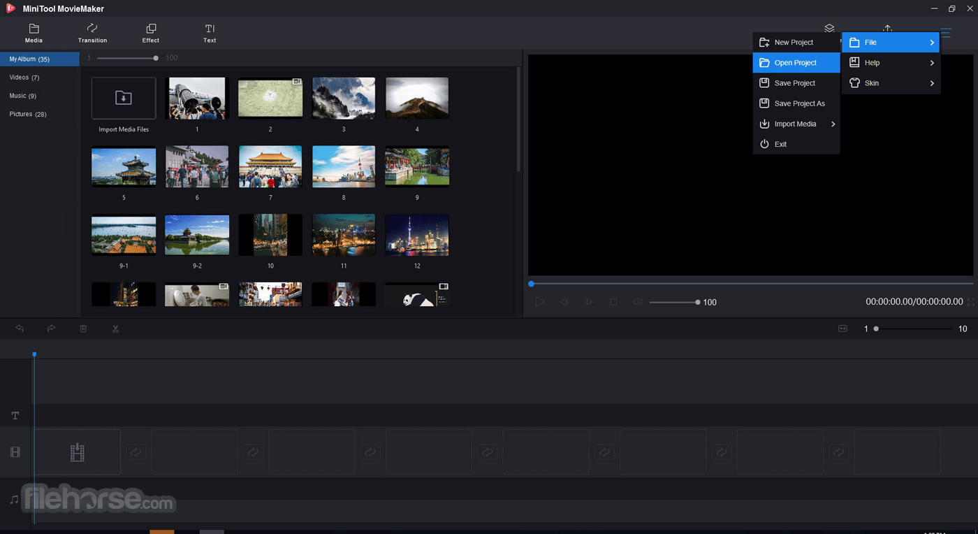 MiniTool MovieMaker Free 2.2 Screenshot 3