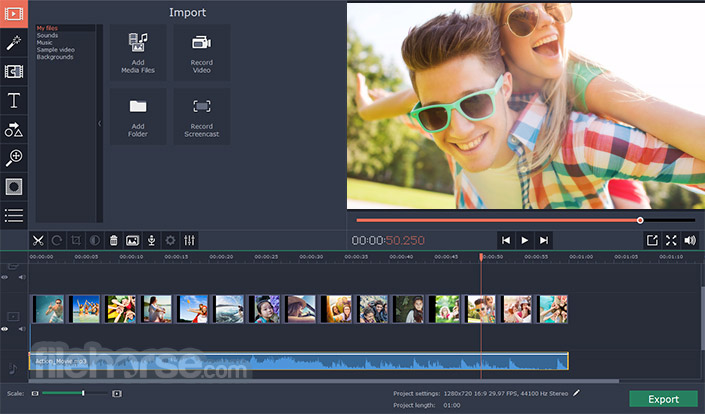 Movavi Video Editor 14.2.0 Screenshot 1