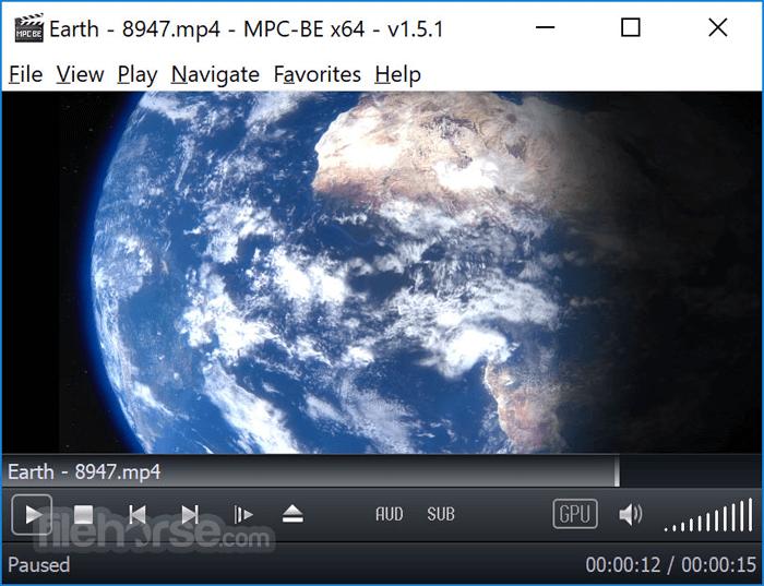 MPC-BE 1.5.1 Beta 2985 (64-bit) Captura de Pantalla 1