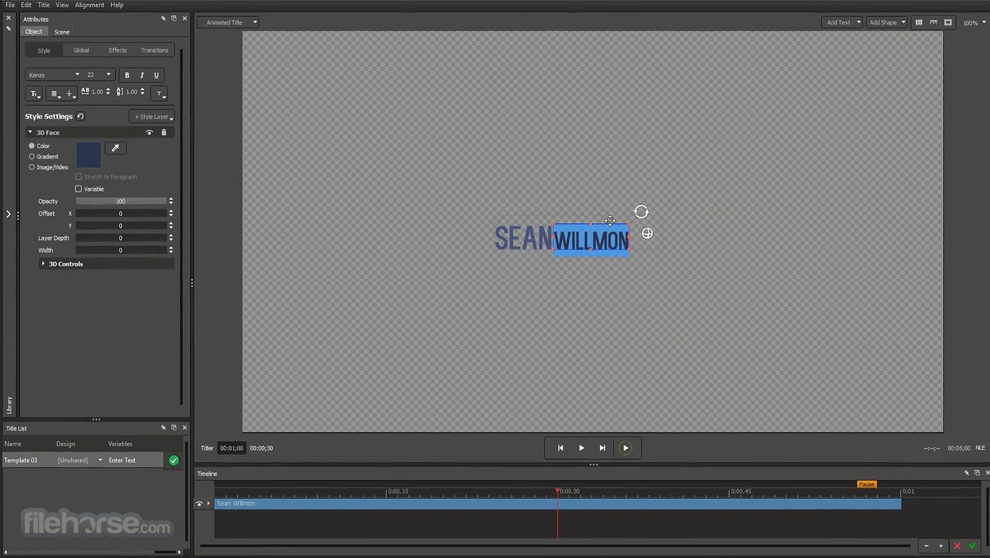 NewBlueFX Titler Pro 7 Screenshot 2