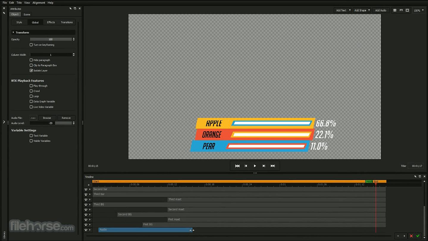 NewBlueFX Titler Pro 7 Screenshot 3