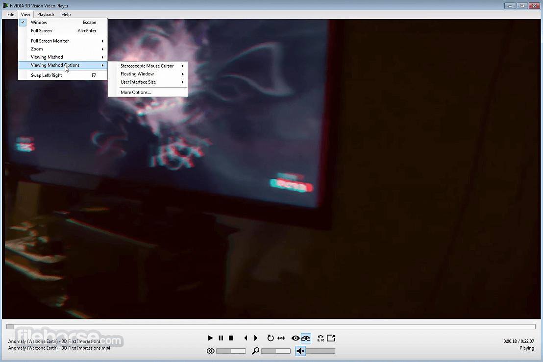NVIDIA 3D Vision Video Player 2.4.3 Screenshot 1