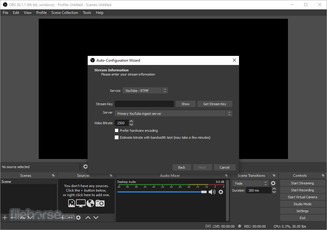 OBS Studio 20.1.3 Screenshot 1