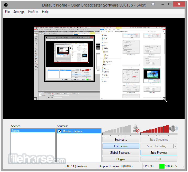 Open Broadcaster Software 0.659 Beta Screenshot 1