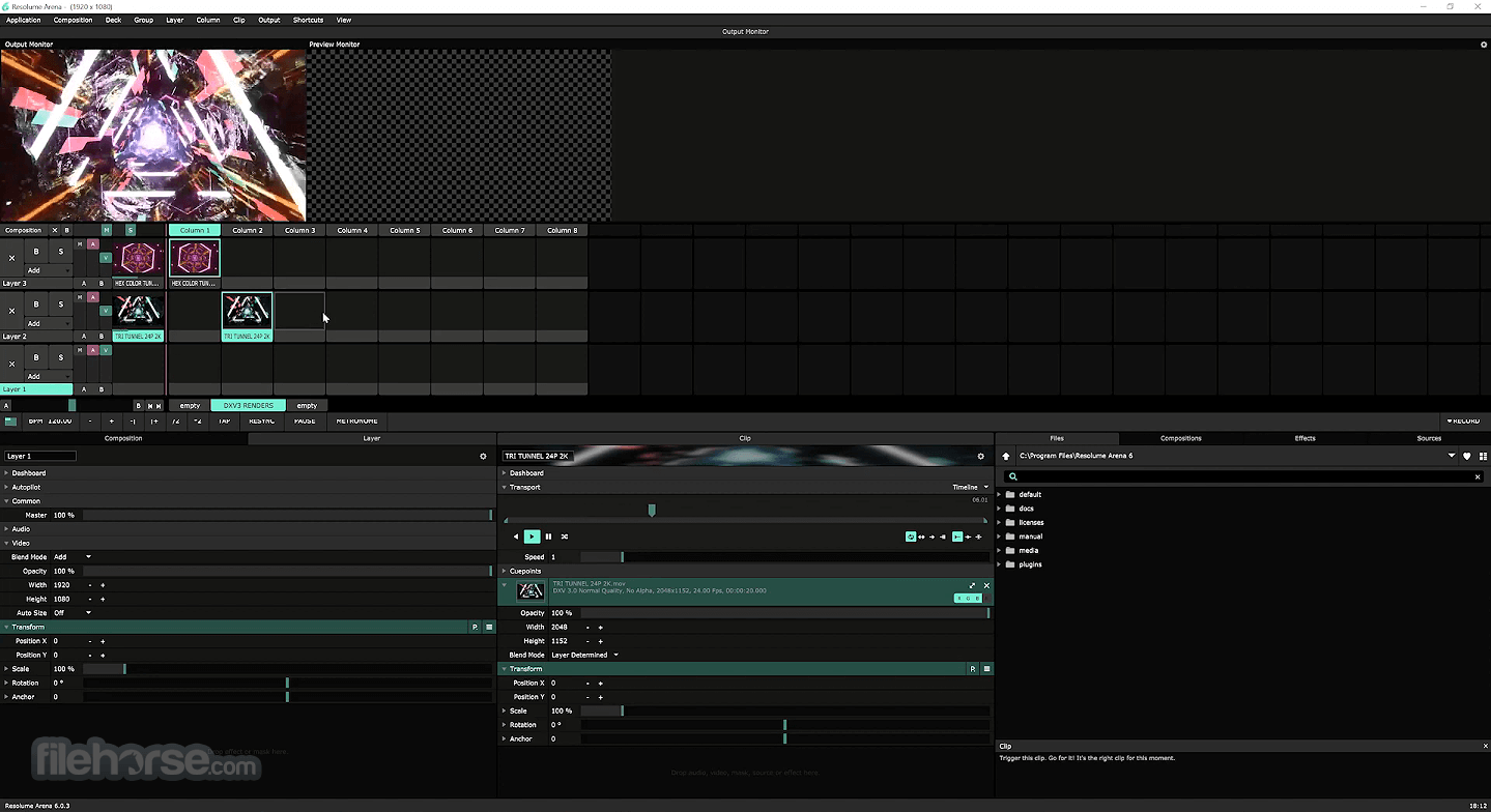 Resolume Arena 7.3.0 rev 72441 Screenshot 3