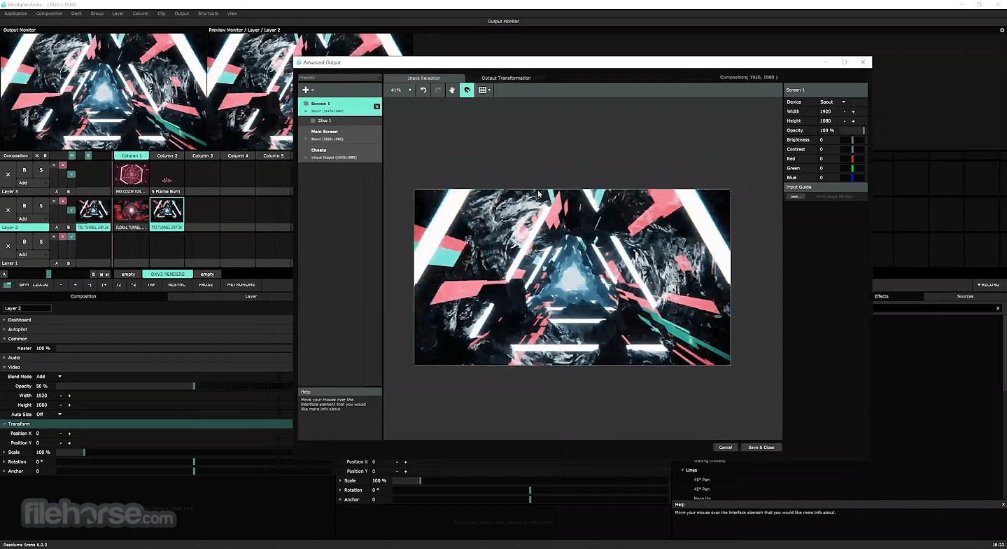 Resolume Arena 7.3.0 rev 72441 Screenshot 5