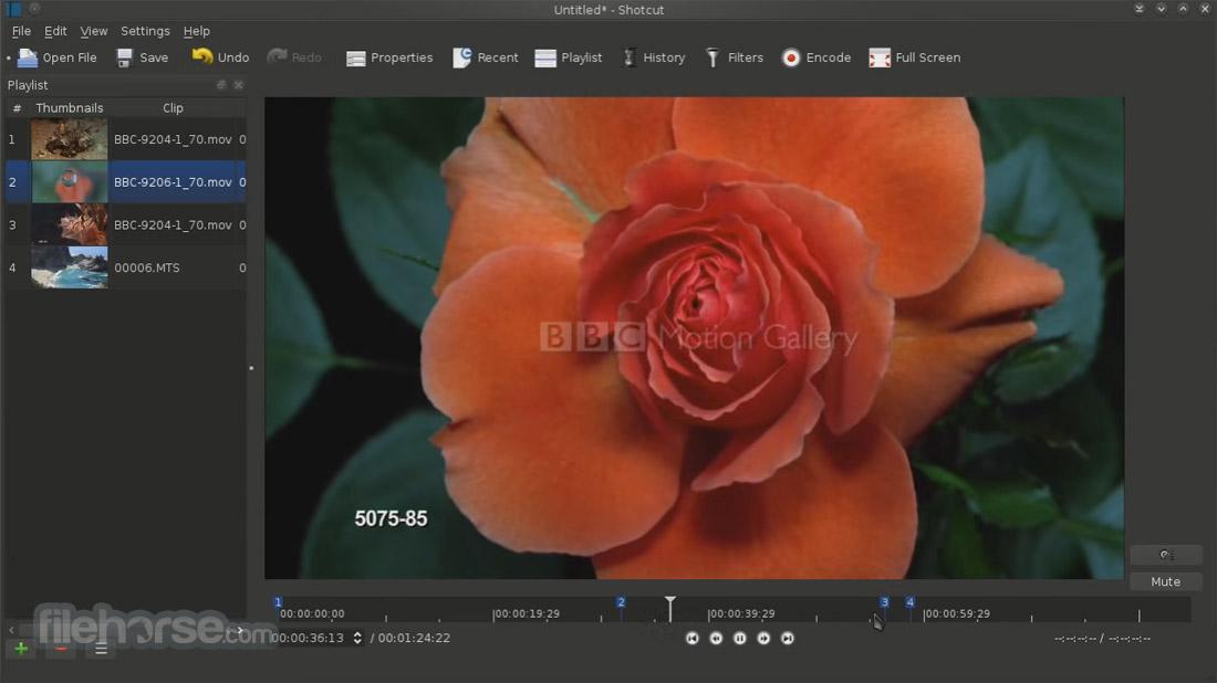 Shotcut 18.01 (32-bit) Captura de Pantalla 2