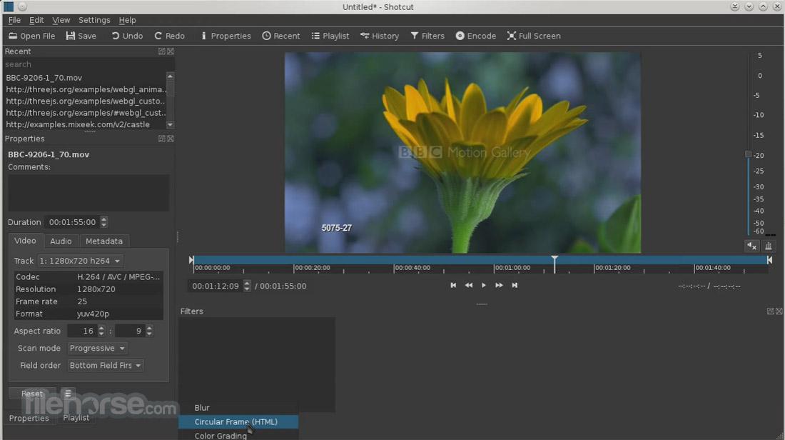 Shotcut 18.01 (32-bit) Captura de Pantalla 4