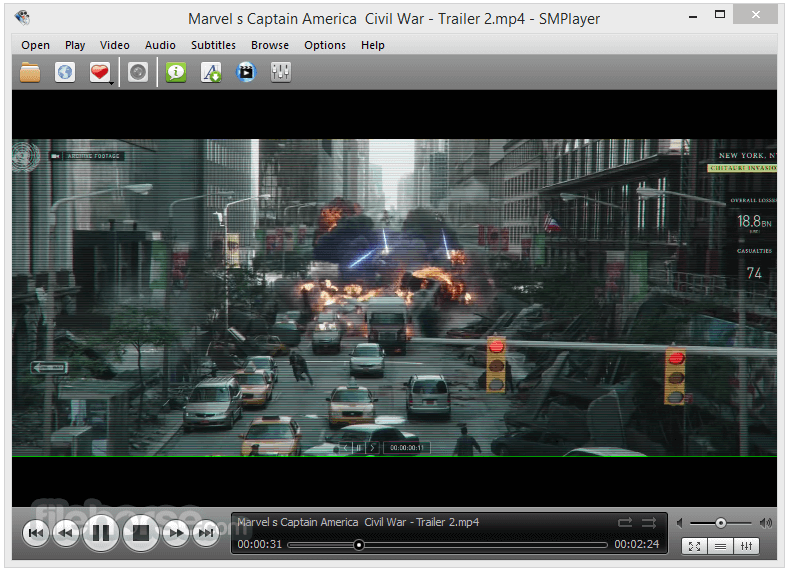 SMPlayer Portable 18.4.0.0 (32-bit) Captura de Pantalla 1