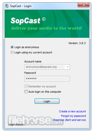 SopCast 4.2.0 Screenshot 1
