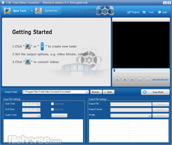 Total Video Converter 3.71 Screenshot 1