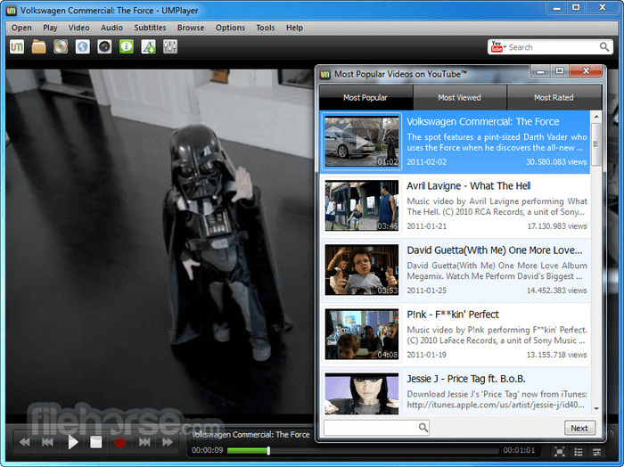 UMPlayer 0.98 Screenshot 3