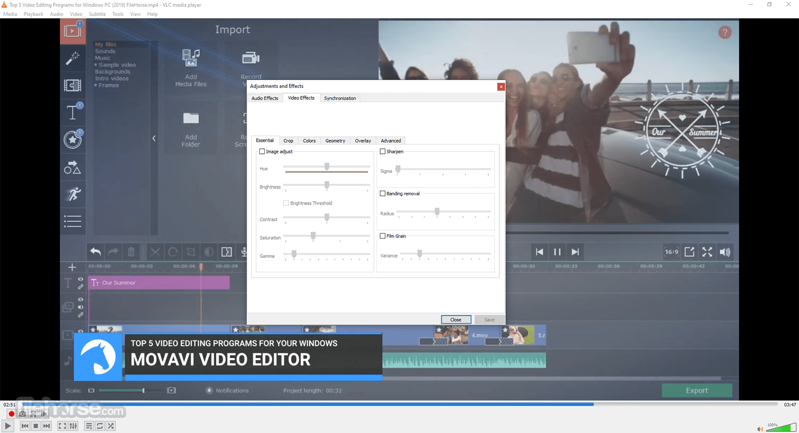 VLC Media Player 2.2.2 (32-bit) Screenshot 4