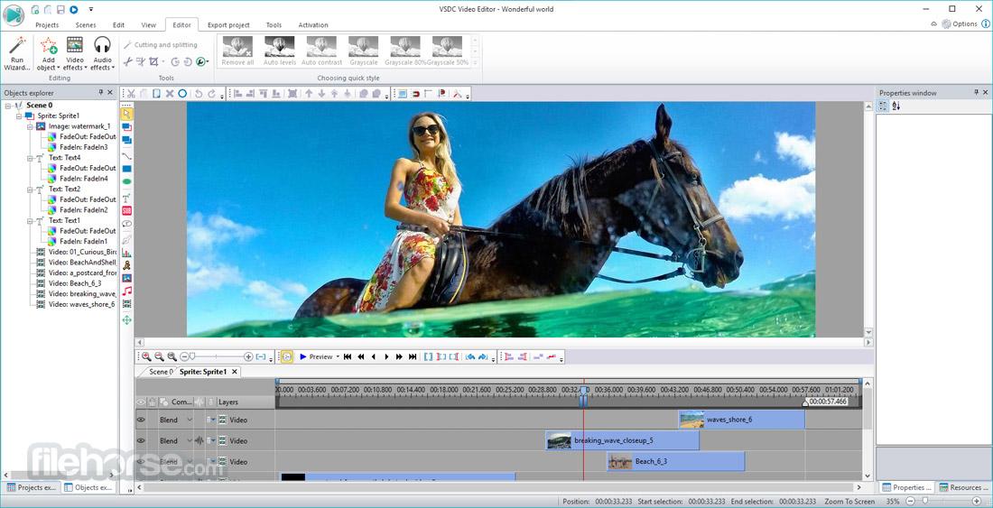 VSDC Free Video Editor 5.8.6.805 (32-bit) Screenshot 1